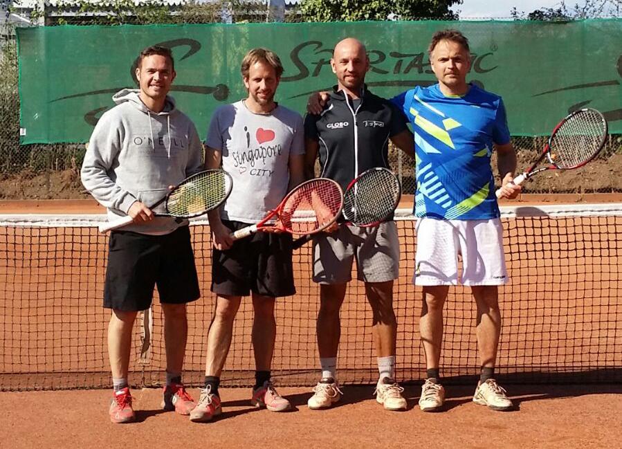 Hannes Zienitzer, Christian Klemenjak, Ewald Höher und Heinz Janach zu Gast beim TC Weinländer in Klagenfurt;
