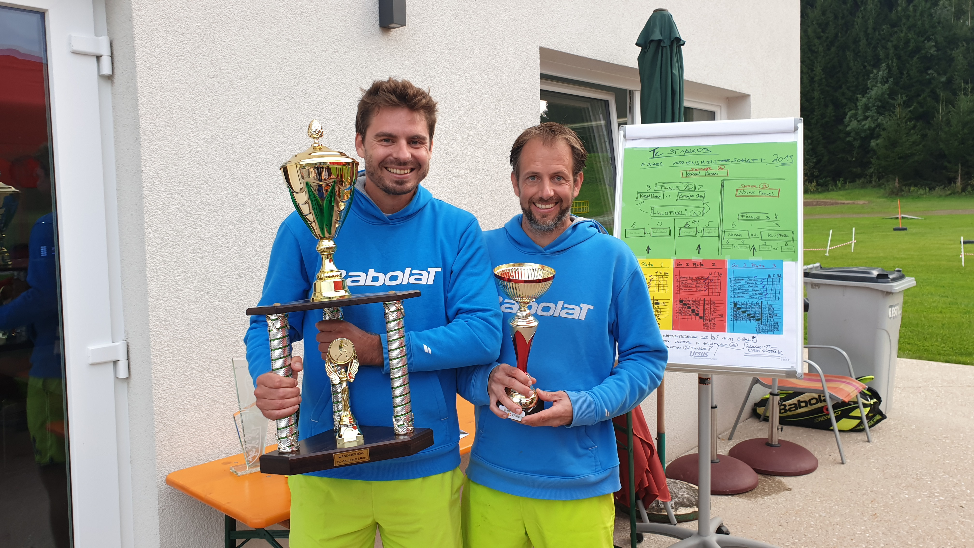 Sieger A Bewerb Roman Koren und Finalist Christian Klemenjak: