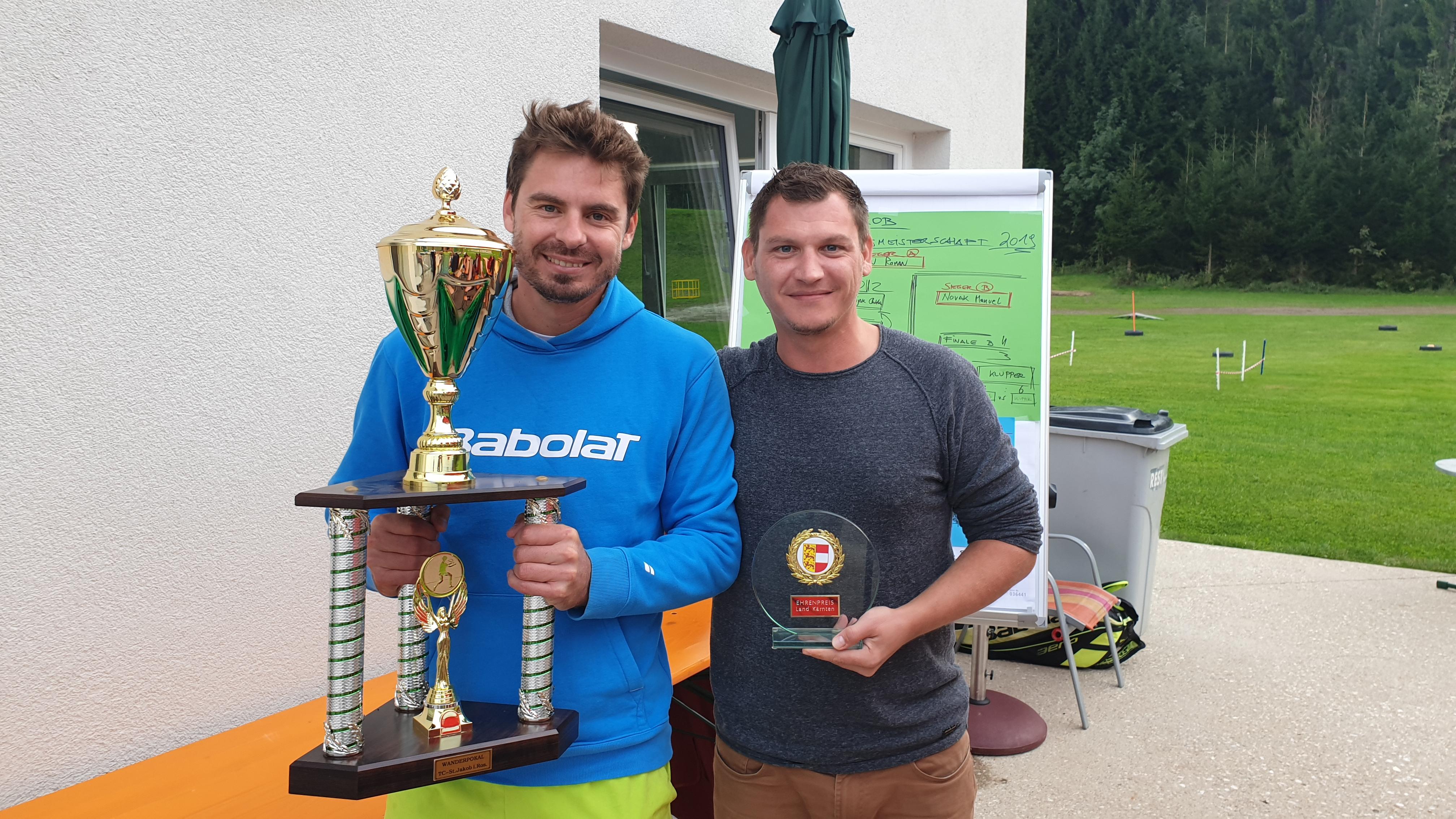 Sieger A Roman Koren und Sieger B Manuel Novak: