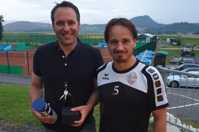 Die Sieger des ersten Globo-Betriebs-Turniers Manuel Maier und Stefan Pogelschek.